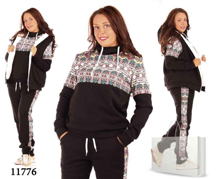 e500b6bf57a0c Женский спортивный костюм большого размера зимняя красота 11776 ...
