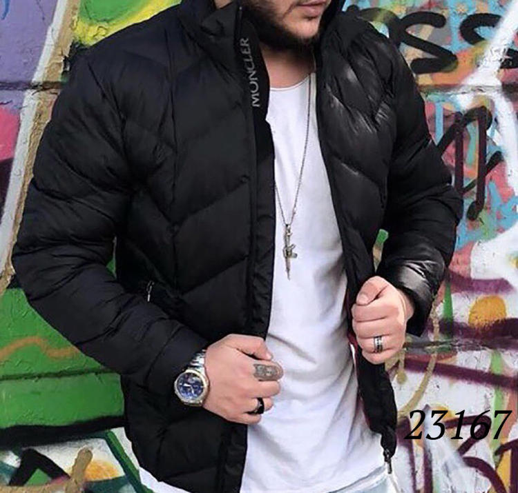 188949e4 Стильная мужская куртка MONCLER теплая на зиму 23167 купить недорого
